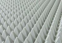Akustik Pyramide Tafeln 100x50cm aus Basotect® lichtgrau