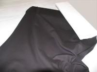 Baumwollstoff uni schwarz // pro lfm