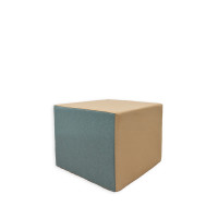Sitzelement Sitzwürfel aus Schaumstoff RG35/55 - Maße: 50 x 50 x 40cm mit Wunschbezug