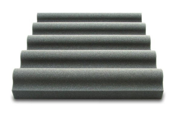 Sound Absorption Panel Wave aus 26/35F anthrazit - 50x50x8cm