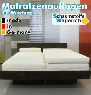 SW Bedding Viscoelastische Matratzenauflage 9cm Maß: 200 x 140cm H2 - medium Cashmere