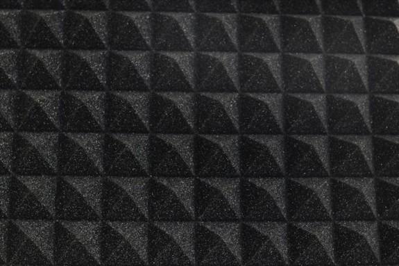 1m² Akustik Pyramidenschaum Tafeln 50 x 50cm anthrazit 40mm, 17,90 €