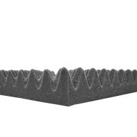 Noppenschaum anthrazit 10cm 4 Stück 100 x 50cm