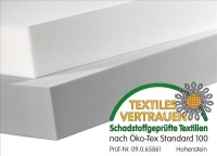 Tafel 100 x 50cm aus BASOTECT® 10cm weiß