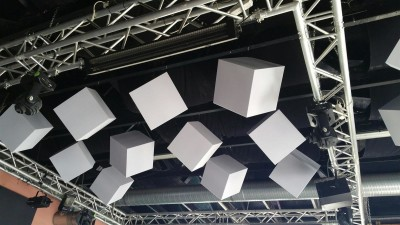 Akustikwürfel aus Basotect® lichtgrau...