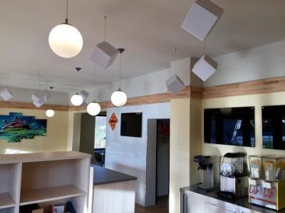 Akustikwürfel aus Basotect® lichtgrau  Akustikverbesserung Absorber DIN4102