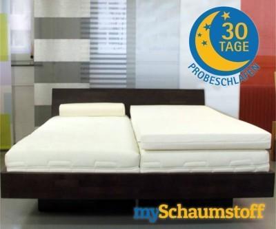 SW Bedding Viscoelastische Matratzenauflage 7cm mit Bezug Maß: 200 x 140cm H2 - mittelfest Cashmere