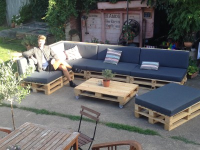 Palettenpolster für Lounge- & Sofamöbel Schaumstoff RG 35 - Sitzpolster 120x80x12cm ohne Bezug