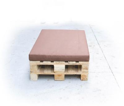 Palettenpolster für Lounge- & Sofamöbel Schaumstoff RG 35 - Sitzpolster 120x80x12cm mit Bezug Airtex dunkelgrau