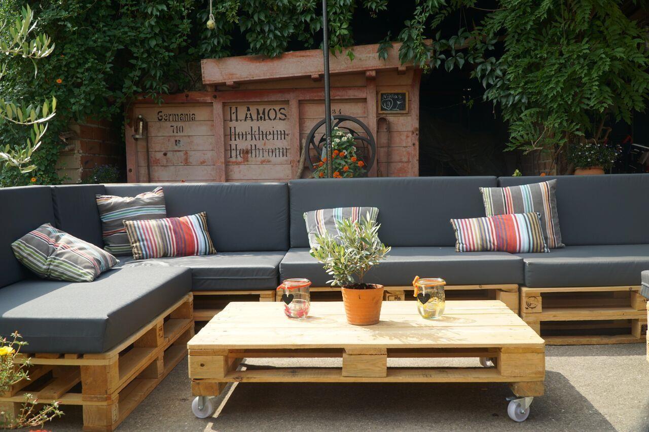 Palettenpolster für Lounge & Sofamöbel Schaumstoff RG 35 Set 120x8 182 90