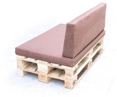 Palettenpolster für Lounge- & Sofamöbel Schaumstoff RG 35 - Set 120x80x8cm + 120x40x20/15cm mit Bezug Airtex dunkelgrau