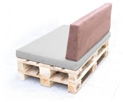 Palettenpolster für Lounge- & Sofamöbel Schaumstoff RG 35 - Rückenpolster 120x40x20/15cm mit Bezug Airtex dunkelgrau