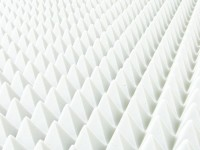 Pyramide 100x50cm aus BASOTECT® weiß 5cm