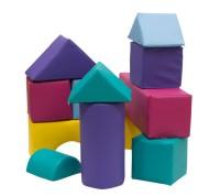 Bausteine-Set aus Schaumstoff RG30/35 mit Kunstlederbezug