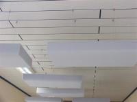 Deckensegel mit Dekor-Kante aus Basotect® lichtgrau...