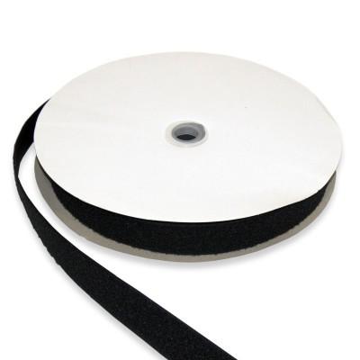 Klett- und Flauschband schwarz 20mm breit zum Aufnähen