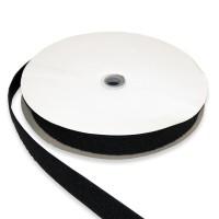 Klett- und Flauschband 30mm breit selbstklebend schwarz