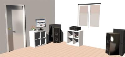 Bass-Trap für Raumakustik Akustikschaumstoff Schall Absorber Schalldämmung 50x50x50cm