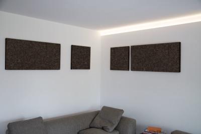 Akustik-Paneel Schall-Absorber als Designelement 50 x 100 cm perlweiß 0026