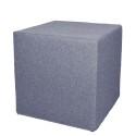 Akustik-Sitzhocker Quader Absorber-Element mit vielen Funktionen 45 x 45 x 45 cm taubenblau 0016