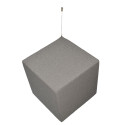 Akustikwürfel aus Basotect® inkl. Bezug + Befestigung 30 x 30 x 30cm Akustikstoff Trevira CS silbergrau 18501
