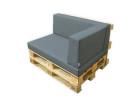 Palettenpolster für Lounge- & Sofamöbel Schaumstoff RG 35 - SET 3-teilig Sitzpolster 120x80cm + Rückenpolster 120x40cm + Lehne 65/60x40cm